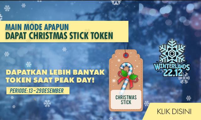 Cara Mendapatkan Token Christmas Stick Free Fire Winterlands