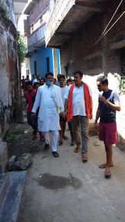 जितेंद्र कुमार सिंह ने कहा कि इस क्षेत्र का विकास तभी संभव है क्षेत्र का बेटा ही उम्मीदवार हो