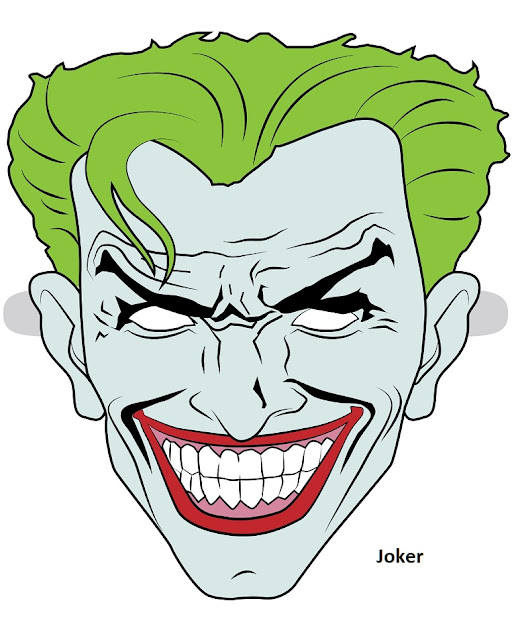 Vintage Joker: Free Printable Mask