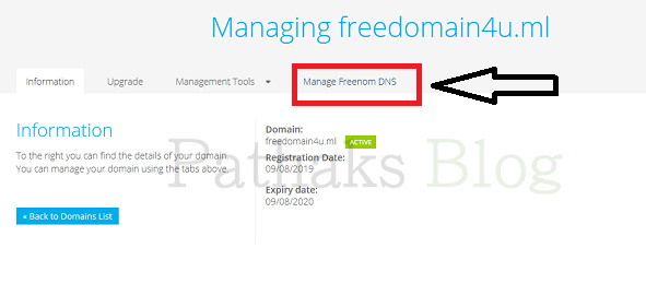 Manage freenom DNS for custom domain, pathaks blog, anil pathak blog