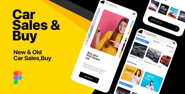 Best Car Sales and Buy Mobile App Figma Template