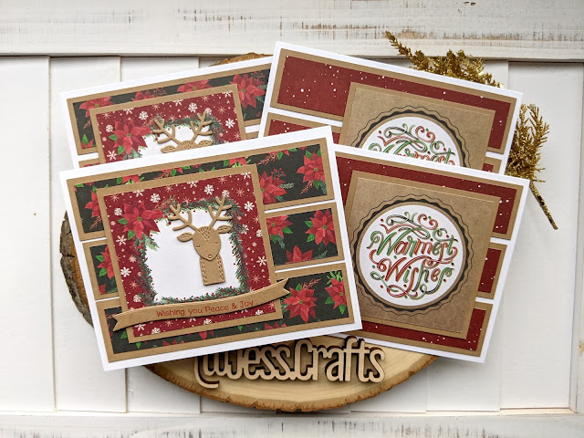 Christmas Card using Michael's Recollections Say Freeze for Jess Crafts Sketch 16
