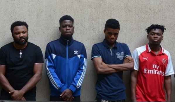 6 Yahoo Boys With 10 Laptops, 17 Phones & A Car Arrested In Abuja