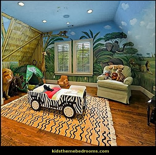 Jungle Animal Decals For Nursery