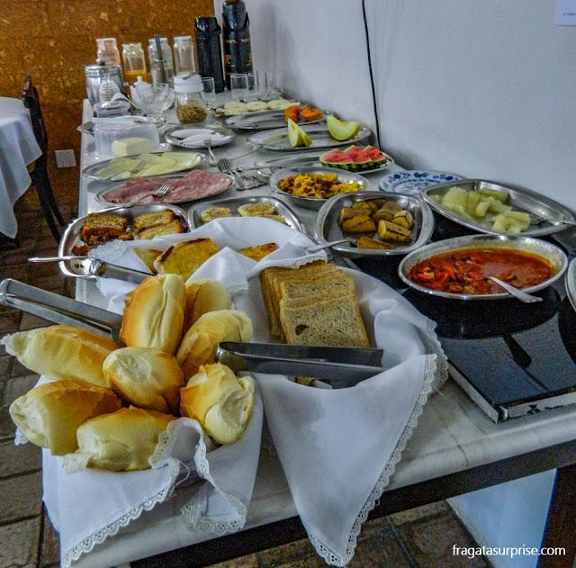 Café da manhã da Pousada Casa Forte, Recife