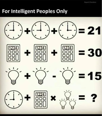 Clock Calculator Bulb Math Puzzle
