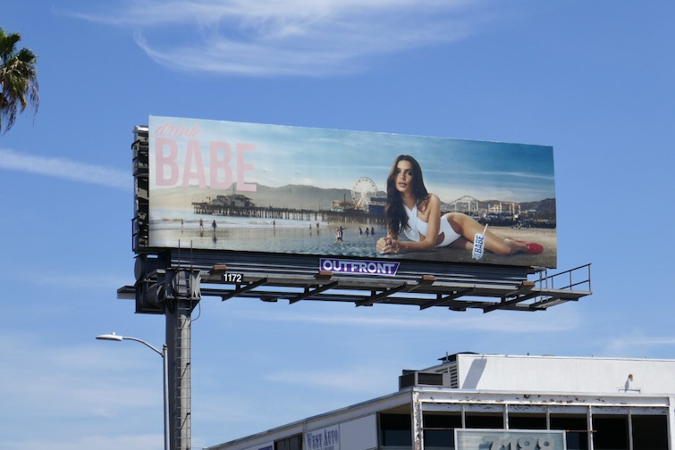 Drink Babe Rose Santa Monica Pier billboard
