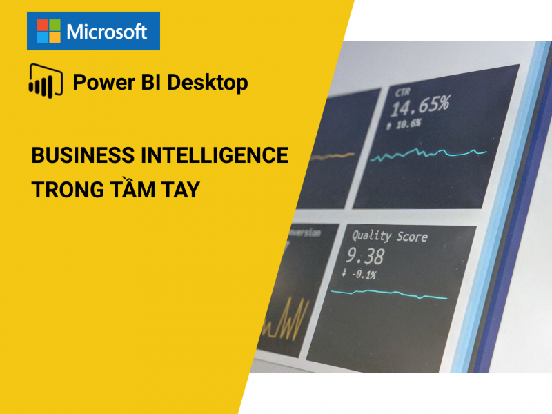 Share khóa học PBI101 - Microsoft Power BI Desktop, Business Intelligence trong tầm tay