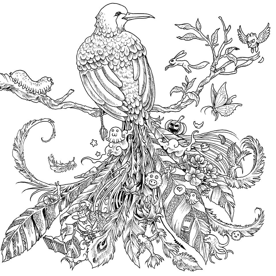 Animorphia Coloring Book Coloring Pages