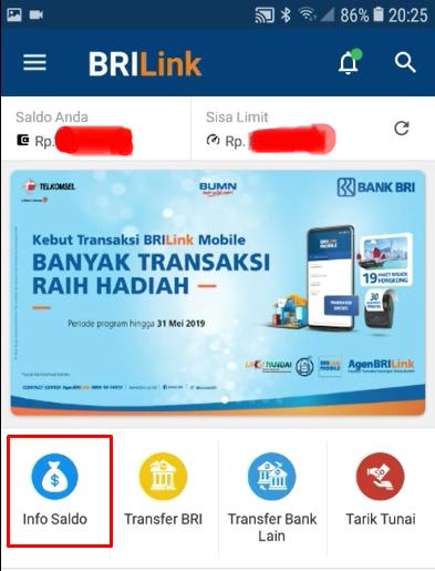 Cara Cek Saldo Nasabah Via ATM Diaplikasi BRILink Mobile