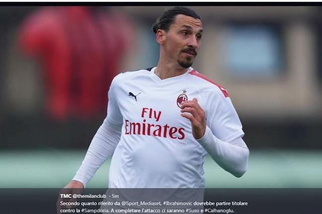 AC Milan Think Zlatan Ibrahimovic is still 25 years old