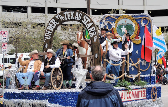 Under the Texas Stars - International Committee Float at the Parade
