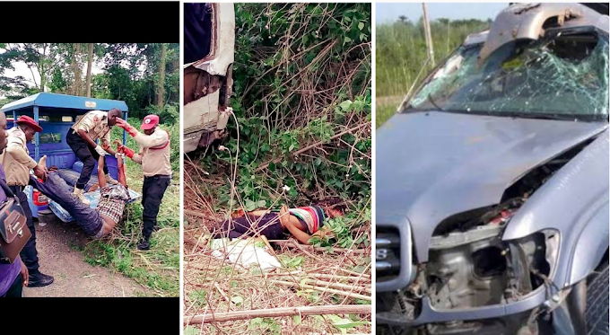 Eyewithness Video Recording of Man dies alongside with his pregnant wife In a car accident