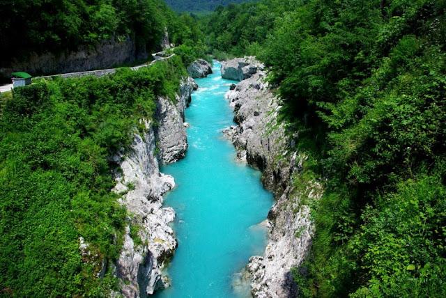 Sungai Soca, Slovenia