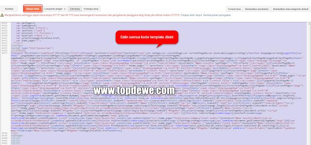 Cara ganti template blog dari html