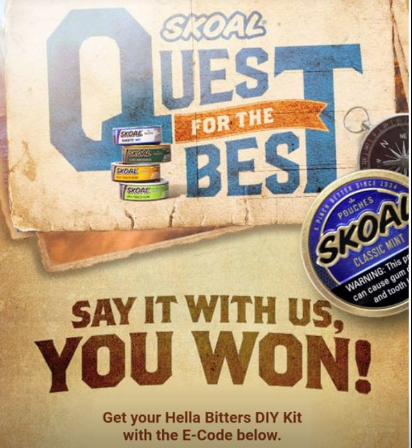 Skoal Quest for the Best Instant Win Game (55,900 Prizes