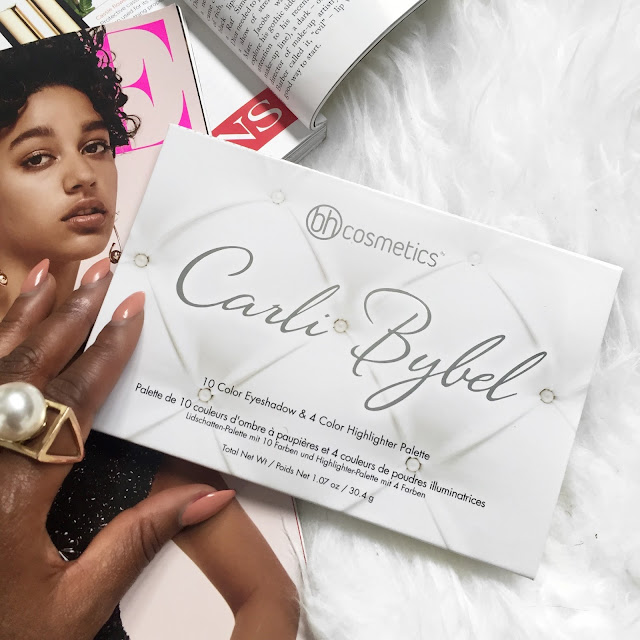 Carli Bybel eyeshadow palette bh cosmetics review packaging