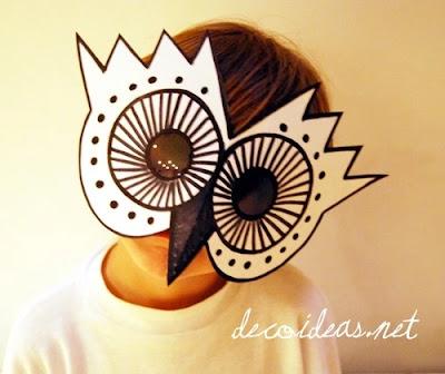 máscara de búho en foami