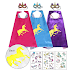 $7.99 + Free Ship 3-Ct Unicorn Capes & 3-Ct Masks!