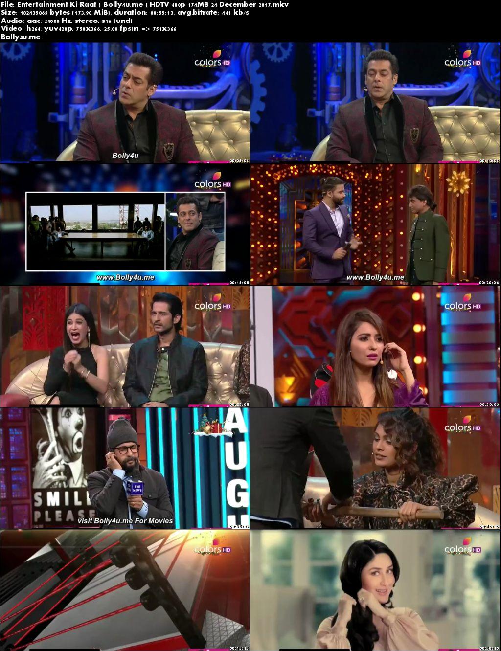 Entertainment Ki Raat HDTV 480p 170MB 24 Dec 2017 Download