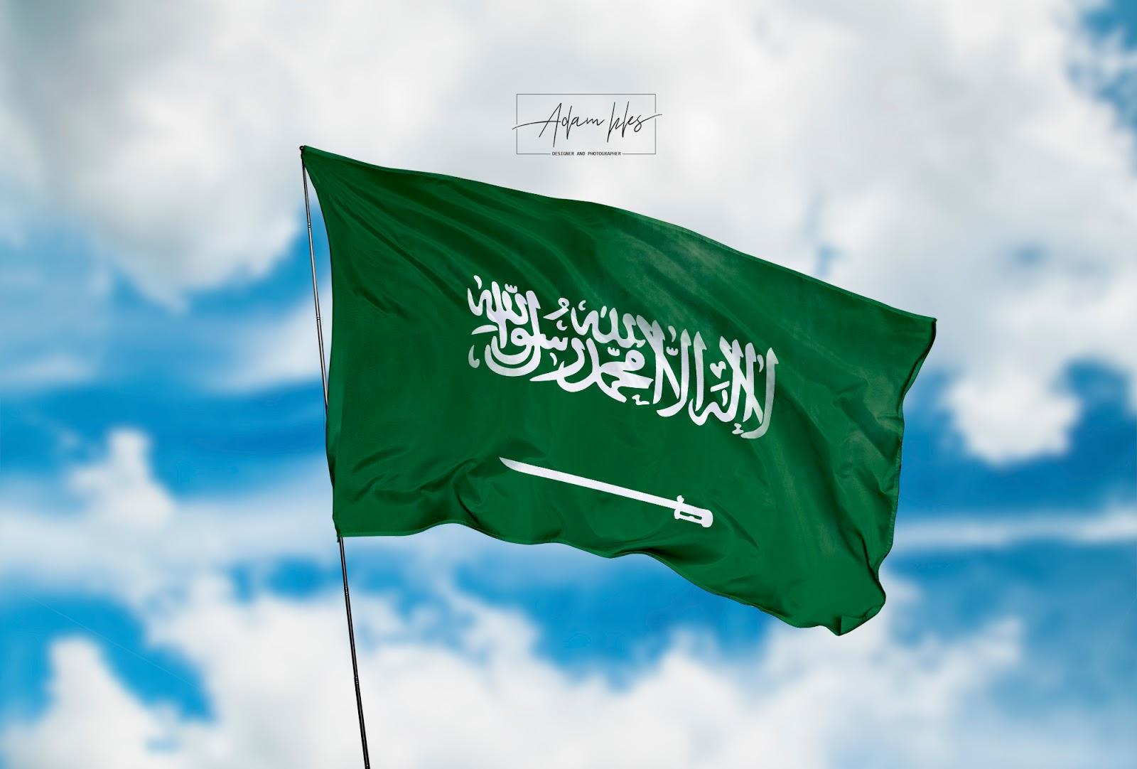 تحميل علم السعودية يرفرف في السماء اجمل خلفيات علم السعودية رائعة خلفيات اعلام العالم