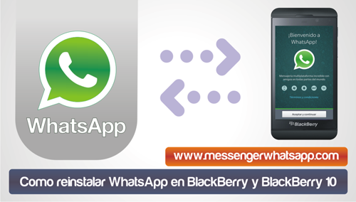 Como reinstalar WhatsApp en BlackBerry y BlackBerry 10