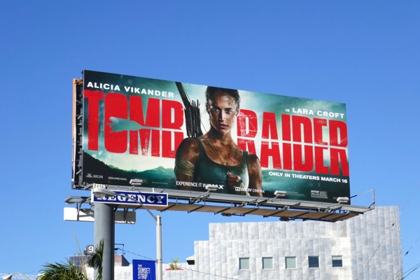 Tomb Raider film billboard
