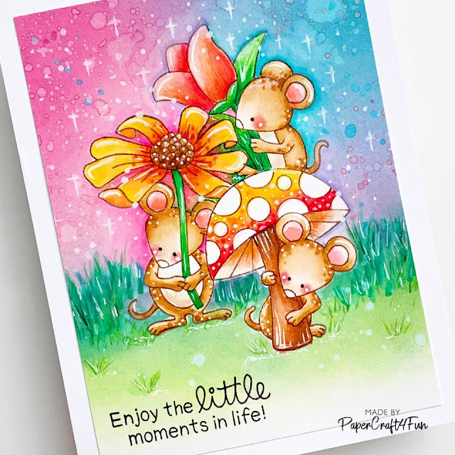 Mouse Card by March Guest Designer Jane Trivedi | Garden Mice Stamp Set by Newton's Nook Designs #newtonsnook
