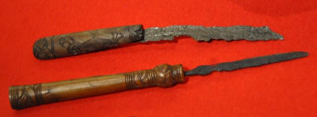 noże z Wolina oraz Kamienia Pomorskiego