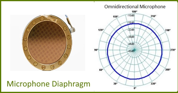 omnidirectional-microphone-diaphragm-and-polar-pattern