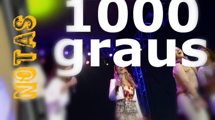 1000 graus - Renascer Praise - Notas melódicas