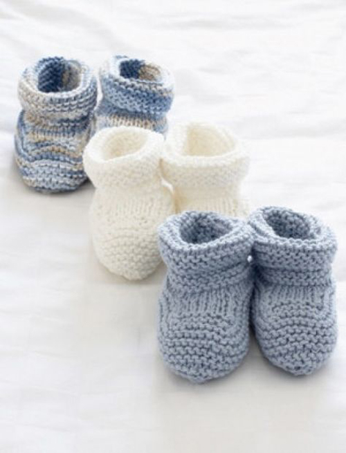 Basic Knit Baby Booties - Free Pattern