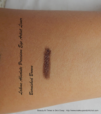 Lakme Absolute Illuminate and Shine Precision Eye Artist Liner Burnished Brown  swatch