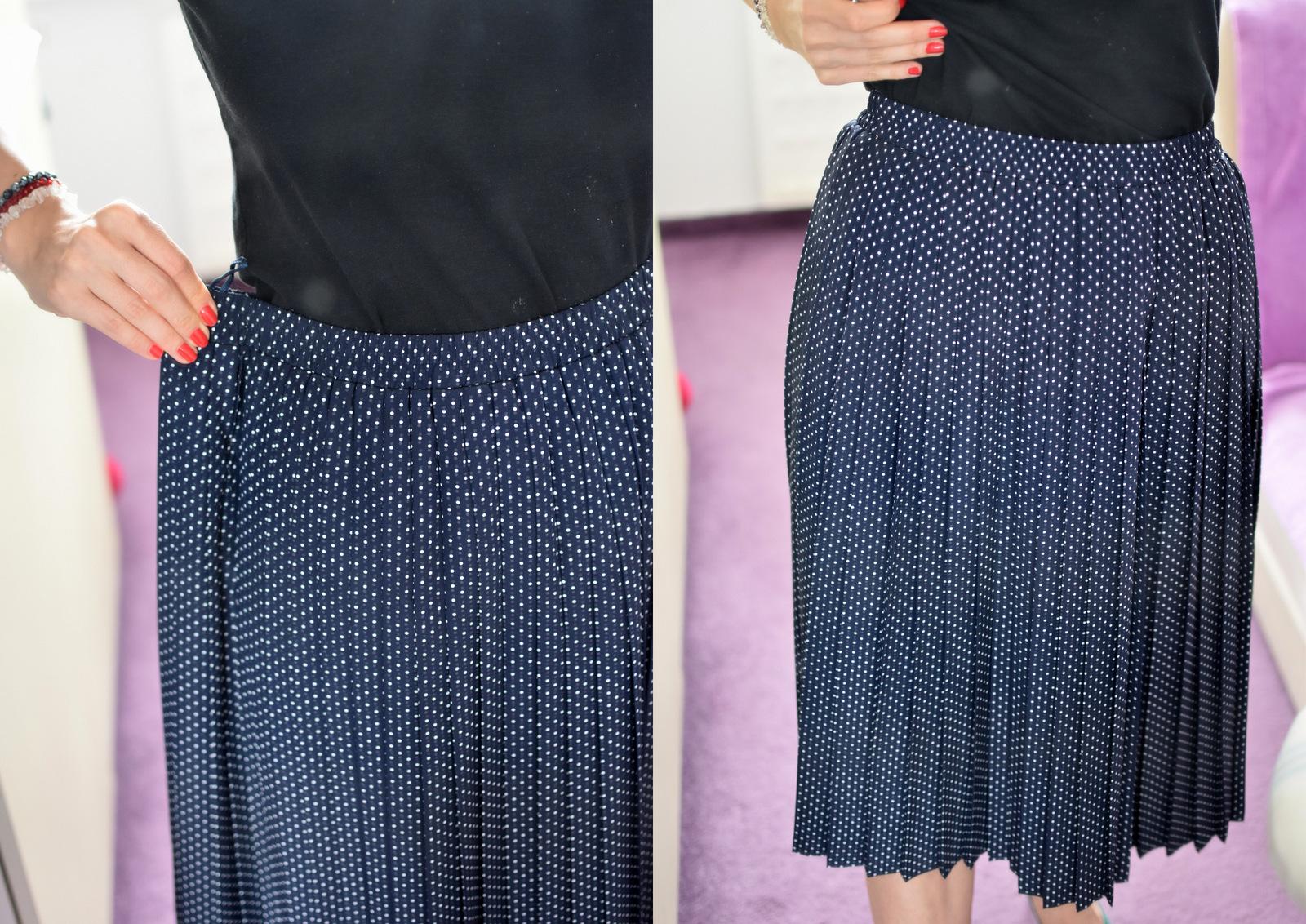DIY / recycling: ako zúžiť sukňu, ktorá má v páse gumičku // druhá šanca pre sukňu zo secondhandu