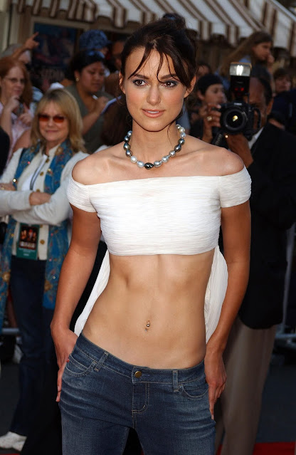 Actress Keira Knightley Cleavage and Navel Actress Trend