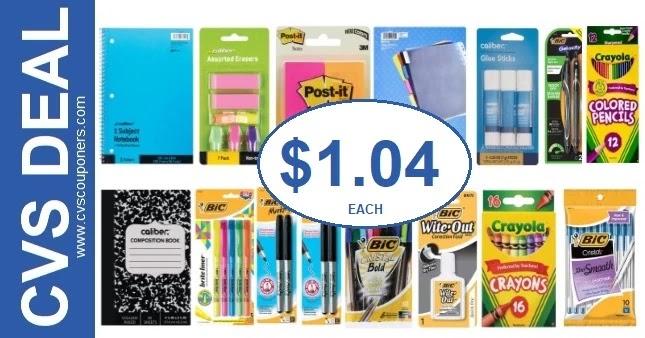 Unbeatable School Supply CVS Deals 8-8-8-14