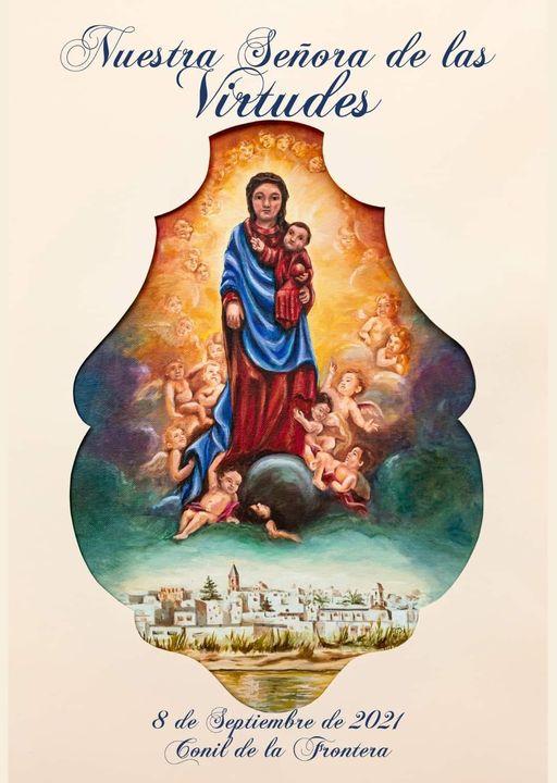 Cartel en Honor a la Festividad de Nuestra Señora de las Virtudes 2021. Conil de la Frontera