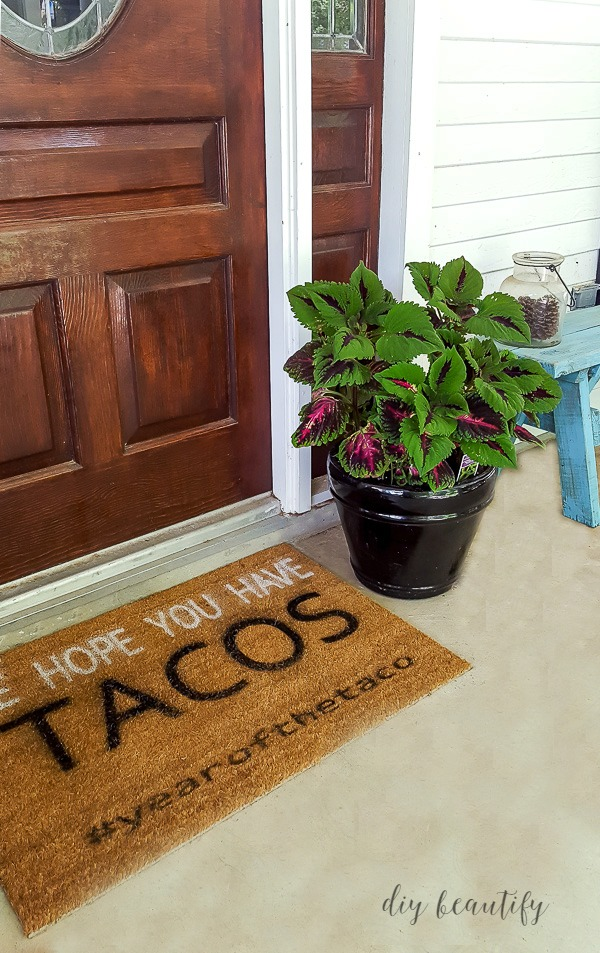 DIY front door mat  |  diy beautify