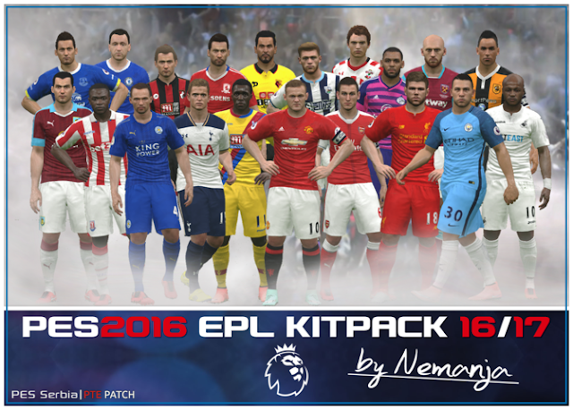 PES 2016 Premier League Kitpack Season 2016-2017