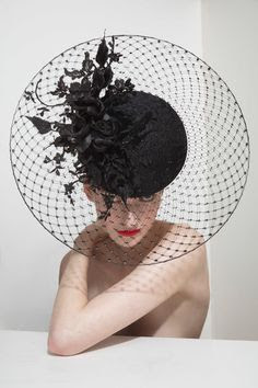 K'Mich Weddings and Events - Philip Treacy Hat collection - black and white