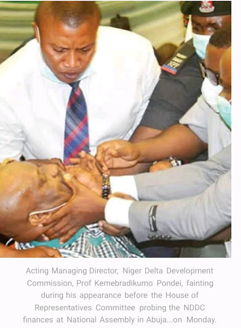 MD faints at hearing, Reps, Akpabio clash, exchange words over NDDC controversial probe