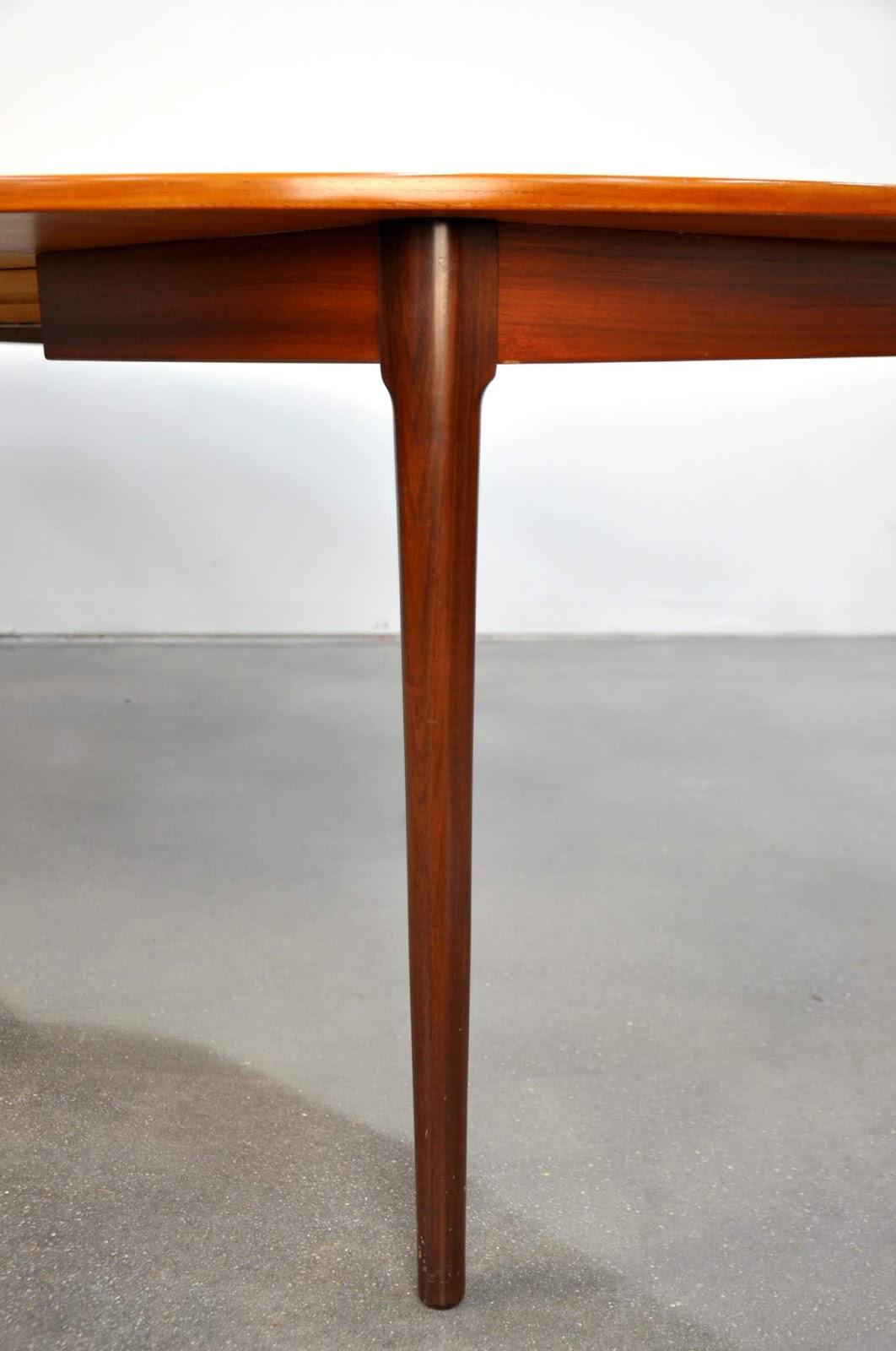 select modern falster teak expandable dining table