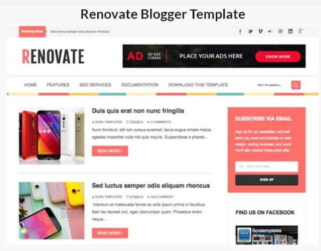 Renovate Blogger Templates