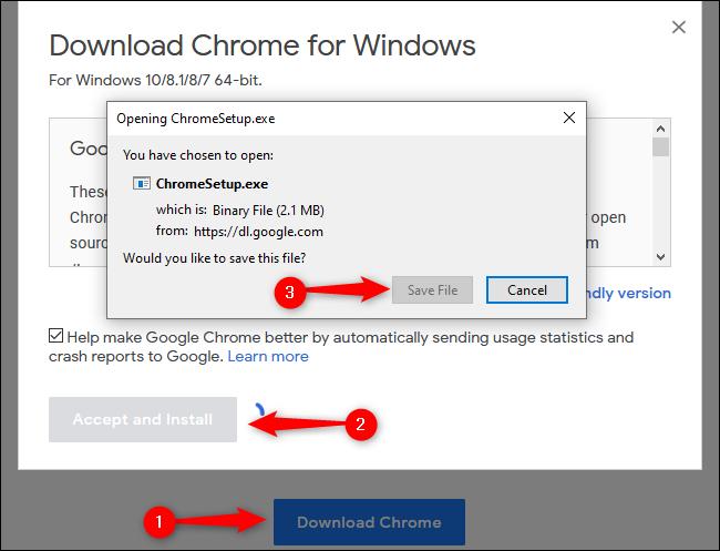 Windows 10 تنزيل Chrome