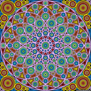 Circles coloring page- blank version available