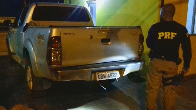 Flagrante! Homem é preso com caminhonete clonada na BR 364
