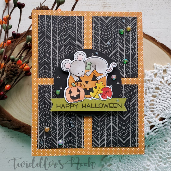 Happy Halloween by Amanda features Autumn Mice by Newton's Nook Designs; #newtonsnook