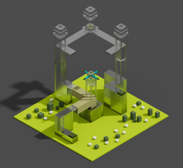 How to make Glass in MagicaVoxel
