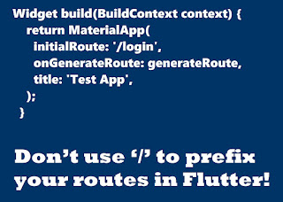 flutter route without slashes