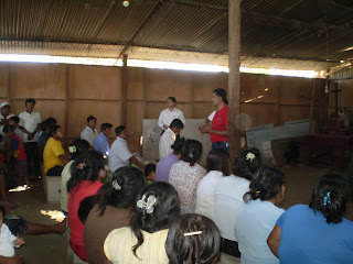 A Facilitator giving instruction